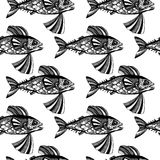 Pesci di vettore, oceano Immagini Stock