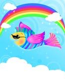 Pesci di volo Immagine Stock