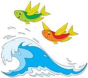 Pesci di volo Fotografie Stock Libere da Diritti