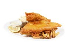 Pesci e chip Immagini Stock