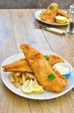 Pesci e chip Immagine Stock