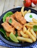 Pesci e chip Immagine Stock Libera da Diritti