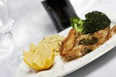 Pesci e riso dell'agrume a eat8 Fotografia Stock Libera da Diritti