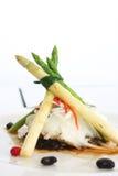 Pesci e verdura freschi del vapore Fotografia Stock Libera da Diritti