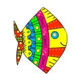 Pesci etnici. Illustrazione di vettore. Fotografia Stock
