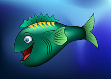 Pesci felici del fumetto Fotografia Stock