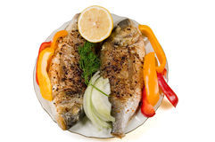 Pesci fritti. Fotografie Stock Libere da Diritti
