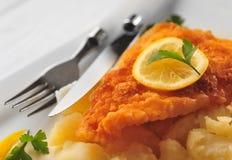 Pesci fritti immagine stock