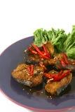 Pesci fritti caldi e piccanti Fotografia Stock