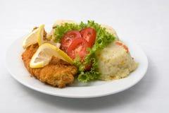 Pesci fritti croccanti Fotografia Stock