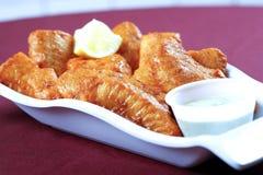 Pesci fritti in zolla Fotografia Stock