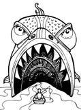 Pesci giganti - in bianco e nero Immagini Stock Libere da Diritti