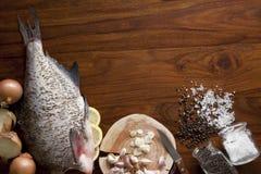 Pesci grezzi freschi Fotografia Stock Libera da Diritti