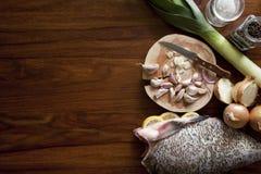 Pesci grezzi freschi Immagini Stock