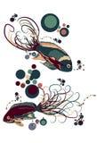 Pesci illustrati di vettore Fotografie Stock Libere da Diritti