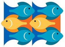 Pesci nel mare Immagini Stock Libere da Diritti