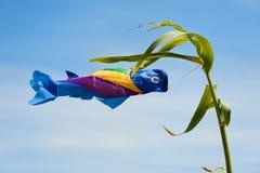 Pesci nel vento immagini stock