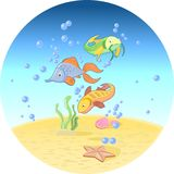 Pesci in oceano Fotografia Stock Libera da Diritti