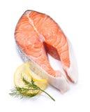 Pesci rossi di color salmone norvegesi Immagini Stock