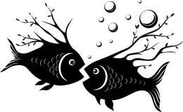 Pesci sconosciuti illustrazione vettoriale