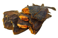 pesci secchi con il caviale Immagine Stock
