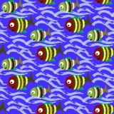 Pesci senza cuciture del modello Fotografia Stock