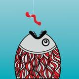Pesci sleali ed affamati una vite senza fine Immagine Stock Libera da Diritti