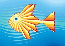 Pesci solari nel mare 3 Fotografie Stock