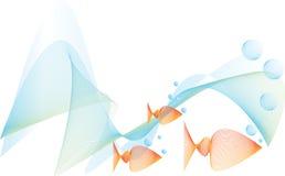 Pesci sotto acqua con le bolle Immagine Stock Libera da Diritti