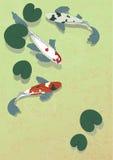 Pesci in stagno Immagini Stock Libere da Diritti