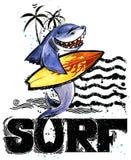 Pesci svegli del fumetto Testo disegnato a mano d'annata della spuma illustrazione dell'acquerello dell'animale di mare fondo di  Immagini Stock