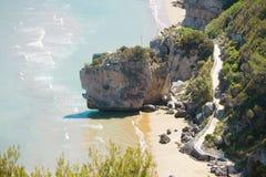 Pescichi, Puglia - traccia di escursione alla spiaggia di Pescichi Immagini Stock Libere da Diritti