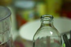Pescoço da garrafa de vidro Imagens de Stock Royalty Free