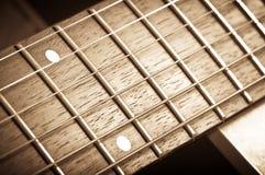 Pescoço da guitarra Foto de Stock Royalty Free