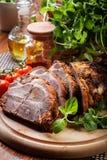 Pescoço Roasted da carne de porco com especiarias fotografia de stock royalty free