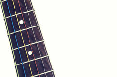 Pescoço de uma guitarra acústica Fotografia de Stock