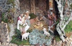 Pesebre de la Navidad Fotos de archivo