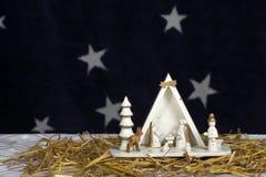 Pesebre de la Navidad Fotografía de archivo libre de regalías