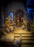 Pesebre de la Navidad en Bolzano imágenes de archivo libres de regalías