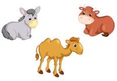 Pesebre de los animales stock de ilustración