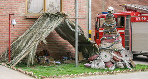 Pesebre del bombero Foto de archivo libre de regalías