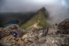 Pesebre Goch Ridge, Snowdonia, País de Gales Imagenes de archivo