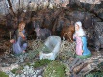 Pesebre italiano de la Navidad Fotos de archivo libres de regalías