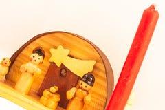 Pesebre rojo de la vela fotos de archivo libres de regalías
