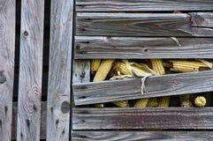 Pesebre viejo del maíz Imagenes de archivo
