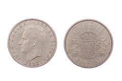 Peseta cinco da Espanha 1982 Imagem de Stock