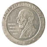 200 peseta spagnole coniano isolato su fondo bianco che descrive Immagini Stock Libere da Diritti