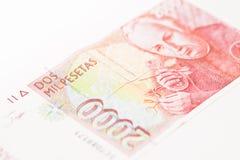 2000 pesetas Photo libre de droits