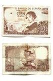 100 pesetas Becquer Стоковые Фотографии RF