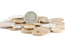 Pesetas (spanish pre-euro currency) Royalty Free Stock Image